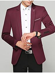 Недорогие -мужской выход на работу блейзер-сплошной цветной шея