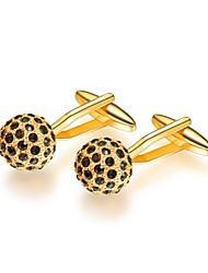 cheap -Circle Silver / Golden Cufflinks Copper Formal / Fashion Men's Costume Jewelry For Gift / Daily