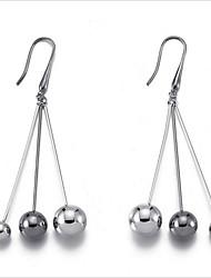 お買い得  -女性用 ロング丈 ドロップイヤリング / イヤリング  -  銀メッキ シルバー 用途 結婚式 / 日常
