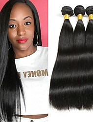 cheap -Peruvian Hair Straight Gifts / Natural Color Hair Weaves / Tea Party Favors 3 Bundles 8-28 inch Human Hair Weaves Gift / Hot Sale / Thick Natural Color Human Hair Extensions Women's