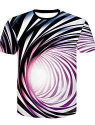 economico -T-shirt Per uomo Essenziale / Moda città Con stampe, Monocolore In bianco e nero