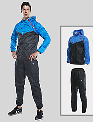 cheap -Men's Heavy Duty Sweat Suit - Black / Red, Grey, Black / Blue Sports Clothing Suit Running, Fitness, Gym Activewear Windproof, Wearable Micro-elastic