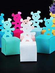 Недорогие -Кубический Розовая бумага Фавор держатель с Рельефный Подарочные коробки - 50 шт