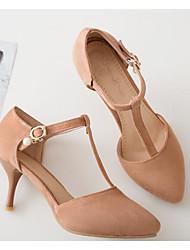 Недорогие -Жен. Обувь Полиуретан Весна Удобная обувь / Туфли лодочки Обувь на каблуках На шпильке Черный / Розовый / Миндальный