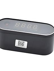 Недорогие -hqcam h.264 wifi настольные часы мини-ip-камера 720p hd ip p2p dvr видеокамеры будильник набор ночного видения дистанционный монитор микрокамера 1 мп