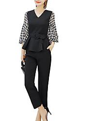 economico -Per donna Blusa A quadri Pantalone
