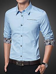 cheap -Men's Shirt - Floral Print