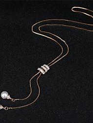 Недорогие -Жен. Одинарная цепочка Ожерелья с подвесками - В виде подвески Золотой, Серебряный 60 cm Ожерелье Бижутерия 1шт Назначение Повседневные