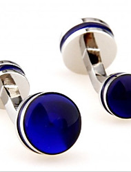 cheap -Circle Blue Cufflinks Copper Moon Formal / Elegant Men's Costume Jewelry For Professional / Office & Career