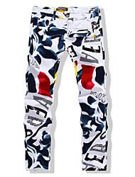 cheap -Men's Basic Jeans Pants - Geometric