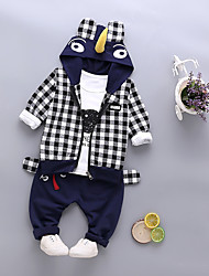 billige -Baby Drenge Sort og hvid Ruder Langærmet Tøjsæt