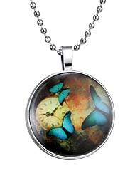 Недорогие -Жен. Светящийся камень Длиные Ожерелья с подвесками - Бабочка Мода Синий 60 cm Ожерелье 1шт Назначение Halloween, Для клуба