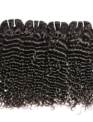 Недорогие -Малазийские волосы Крупные кудри Подарки / Косплей Костюмы / Человека ткет Волосы 4 Связки 8-28 дюймовый Ткет человеческих волос Sexy Lady / Толстые / Удобный Черный Расширения человеческих волос Жен.
