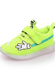 abordables -Fille Chaussures Maille / Polyuréthane Printemps été Confort Chaussures d'Athlétisme Marche LED pour Enfants Rouge / Vert / Rose
