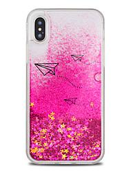 economico -Custodia Per Apple iPhone X / iPhone 8 Plus Liquido a cascata / Fantasia / disegno Per retro Cartoni animati / Glitterato Resistente TPU / PC per iPhone X / iPhone 8 Plus / iPhone 8