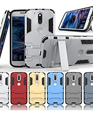 cheap -Case For Motorola MOTO G4 Plus with Stand Back Cover Solid Colored Hard PC for Moto G4 Plus / Moto G4 Play / MOTO G4