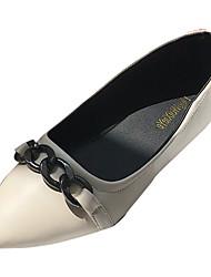 Недорогие -Жен. Обувь Полиуретан Лето Удобная обувь На плокой подошве На плоской подошве Заостренный носок Бант Черный / Розовый / Темно-коричневый