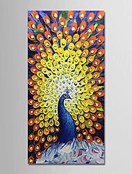abordables -Peinture à l'huile Hang-peint Peint à la main - Abstrait / Bande dessinée Moderne Toile