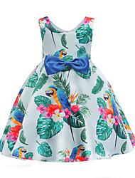 abordables -Enfants Fille Feuille tropicale Fleur Sans Manches Robe