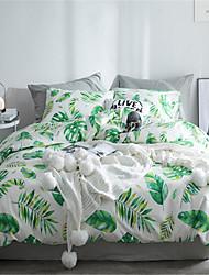 cheap -Duvet Cover Sets Floral Polyster Applique 4 Piece