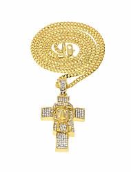 cheap -Men's AAA Cubic Zirconia Classic / Stylish Pendant Necklace - Hope, Faith Stylish, Unique Design, European Gold, Silver 60 cm Necklace 1pc For Christmas, Festival