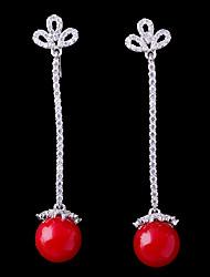 abordables -Femme Zircon Stylé Clips - Fleur, Balle Mode Rouge Pour Mariage Fiançailles
