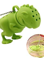 Недорогие -силиконовый динозавр чай инфузатор сыпучий листовой фильтр травяной фильтр диффузор