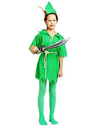 cheap -Cosplay Costume Boys' Halloween / Carnival / Children's Day Festival / Holiday Halloween Costumes Dark Green Solid Colored / Halloween Halloween