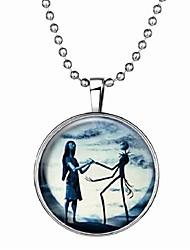 baratos -Mulheres Pedra Luminosa Longas Colares com Pendentes - Resina Criativo Fashion Azul 60 cm Colar 1pç Para Halloween, Bandagem