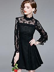 cheap -YHSP Women's Street chic / Sophisticated Sheath / Little Black Dress Ruffle