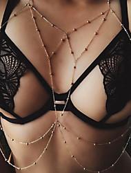 Недорогие -Многослойность / С кисточками Цепь Тела / Belly Chain Креатив кисточка, гипербола, Мода Жен. Золотой Украшения для тела Назначение Праздники / Бикини