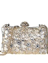 Недорогие -Жен. Мешки PU Вечерняя сумочка Кристаллы / С отверстиями Белый / Черный / Розовый