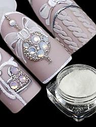 baratos -2pcs Dicas de unhas artificiais Purpurina Design Moderno / Luminoso arte de unha Manicure e pedicure Glitters / Retro Festa de Casamento / Roupa Diária