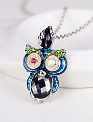 cheap -Women's Stylish Pendant Necklace - Owl, Animal Stylish, European Light Blue 40+5 cm Necklace Jewelry 1pc For Gift, Daily