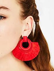 billiga -Dam Tofs Dropp Örhängen - Tofs, Europeisk, Mode Röd / Rosa / ljusgrön Till Dagligen Kontor & Karriär