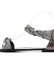 Недорогие -Жен. Обувь Наппа Leather Лето Удобная обувь Сандалии На плоской подошве Золотой / Серебряный / Миндальный