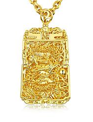 Недорогие -Муж. Старинный Цепочка / Ожерелье с шармом - Позолота Стиль, азиатский, Роскошь Золотой 60 cm Ожерелье 1шт Назначение Свадьба, Вечеринка / ужин