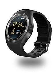 cheap -Smartwatch Y1 for iOS / Android Waterproof / Calories Burned / Long Standby / Hands-Free Calls / Touch Screen Pedometer / Call Reminder / Activity Tracker / Sedentary Reminder / Find My Device