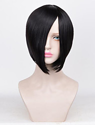 cheap -Synthetic Wig Straight Bob Haircut Synthetic Hair 10inch Cute / Party Black / Light Brown Wig Women's Short Capless