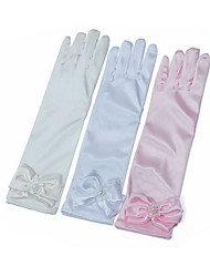 billiga -spandex Tyg Armbågslängd Handske Vintage Stil / Handskar Med Enfärgad