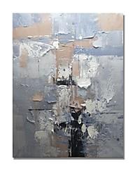 Недорогие -styledecor® современная ручная роспись абстрактной серой масляной живописи для настенного искусства на обернутом холсте
