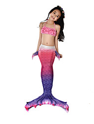 cheap -The Little Mermaid Swimwear Bikini Costume Girls' Halloween Carnival Festival / Holiday Halloween Costumes Outfits Purple Mermaid Vintage