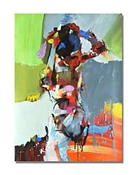 economico -Hang-Dipinto ad olio Dipinta a mano - Astratto Contemporaneo / Modern Tela