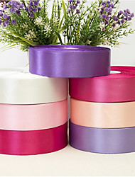 cheap -Solid Color Terylene Wedding Ribbons - 1 pcs Piece/Set Weaving Ribbon Decorate favor holder / Wedding Party Decoration