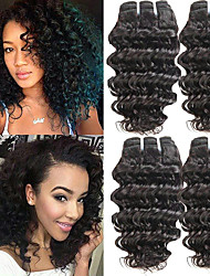 cheap -6 Bundles Brazilian Hair Curly Human Hair Natural Color Hair Weaves / One Pack Solution / Human Hair Extensions 8-28 inch Human Hair Weaves Machine Made Newborn / New Arrival / Hot Sale Natural Color