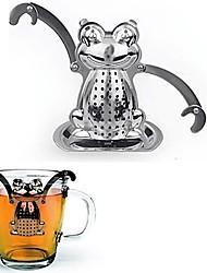 Недорогие -лягушачий чайный фильтр для чайника с мини-пластинчатым держателем из нержавеющей стали