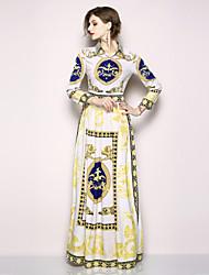 cheap -SHIHUATANG Women's Boho / Street chic Swing Dress - Animal Print