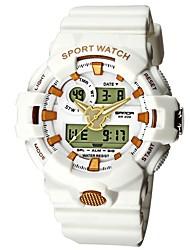Недорогие -SANDA Муж. Спортивные часы электронные часы Японский Цифровой силиконовый Черный / Белый / Синий 30 m Защита от влаги Календарь Хронометр Аналого-цифровые Роскошь Мода -  / Фосфоресцирующий