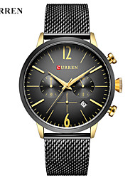 cheap -CURREN Men's Dress Watch / Bracelet Watch Chinese Calendar / date / day / Water Resistant / Water Proof / New Design Alloy Band Casual / Fashion Black / White / Stainless Steel