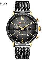 abordables -CURREN Hombre Reloj de Vestir / Reloj Pulsera Chino Calendario / Resistente al Agua / Nuevo diseño Aleación Banda Casual / Moda Negro / Blanco / Acero Inoxidable